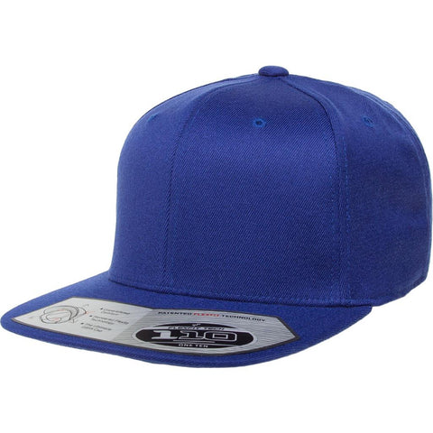Flexfit 110 Flat Bill Snapback Cap - Royal Blue - HIT A Double