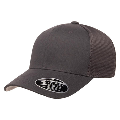 Flexfit 110 Mesh-Back Cap - Charcoal