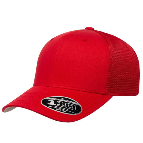Flexfit 110 Mesh-Back Cap - Red - HIT A Double