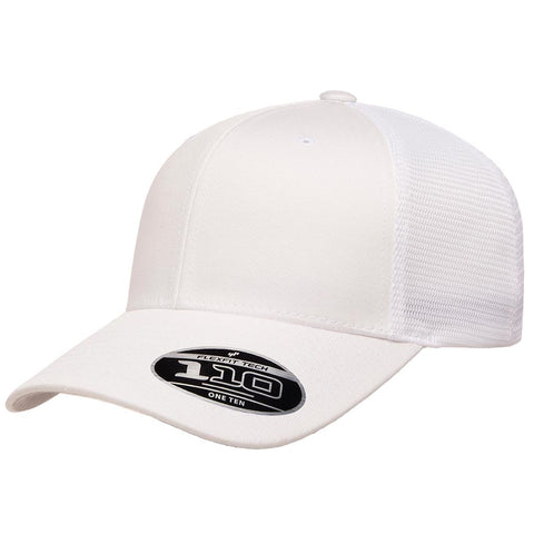 Flexfit 110 Mesh-Back Cap - White