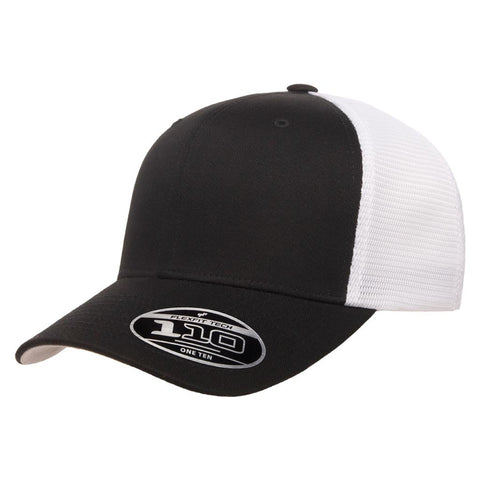 Flexfit 110 Mesh-Back Cap - Black White