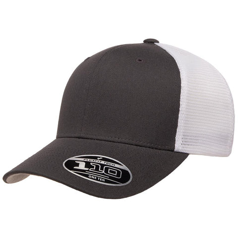 Flexfit 110 Mesh-Back Cap - Charcoal White