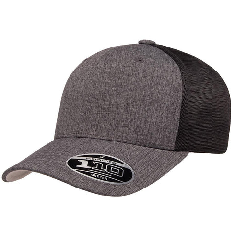 Flexfit 110 Mesh-Back Cap - Melange Charcoal Black