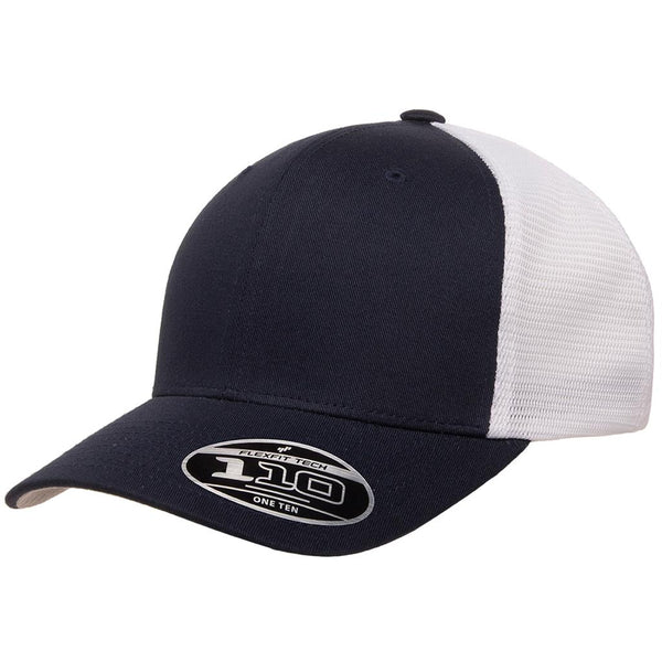 Flexfit 110 Mesh-Back Cap - Navy White - HIT A Double