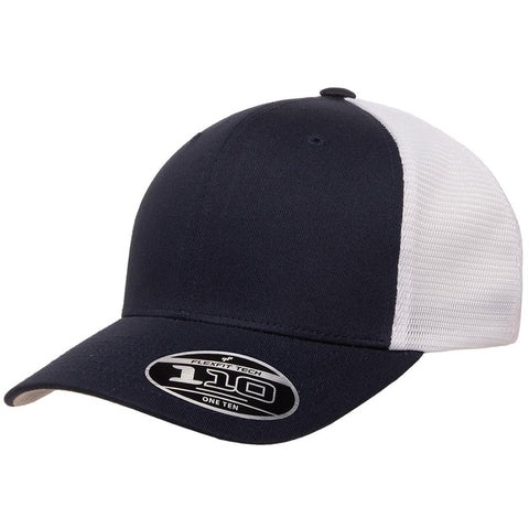 Flexfit 110 Mesh-Back Cap - Navy White