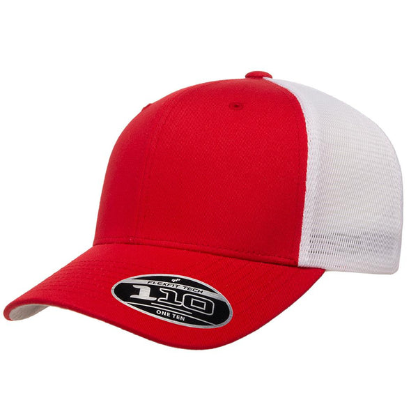 Flexfit 110 Mesh-Back Cap - Red White