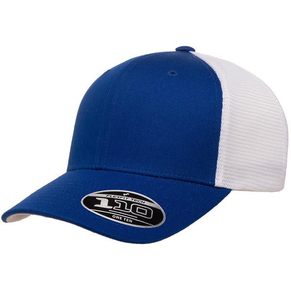 Flexfit 110 Mesh-Back Cap - Royal White