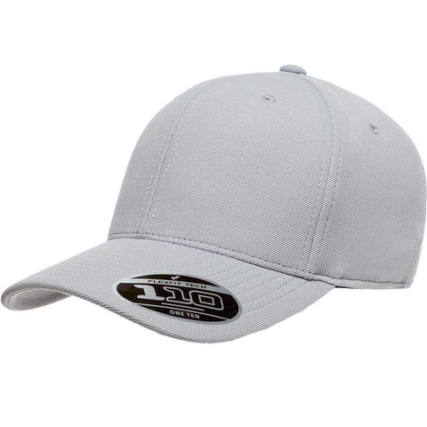 Flexfit 110 Mini-Piqué Cap - Silver - HIT A Double
