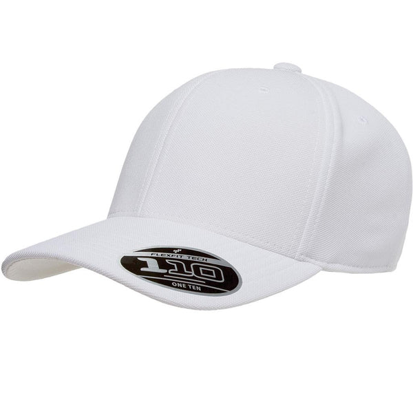 Flexfit 110 Mini-Piqué Cap - White - HIT A Double