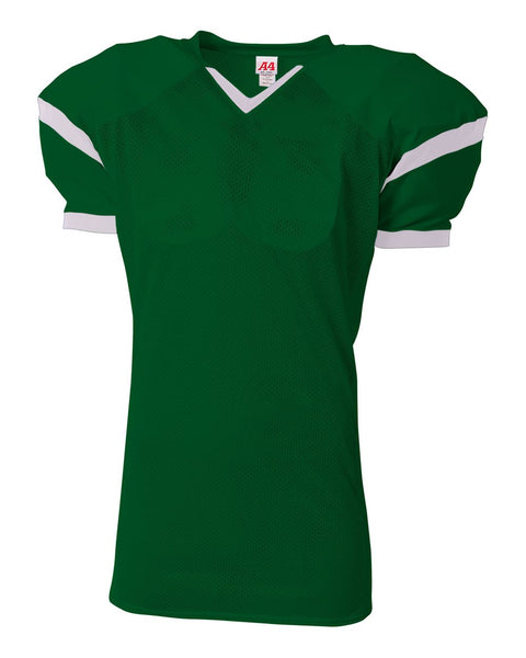 A4 N4265 The Rollout Football Jersey - Forest White