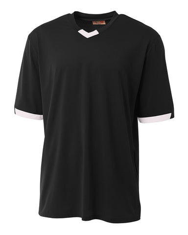A4 N3011 The Stretch Pro - Mesh Baseball Jersey - Black White