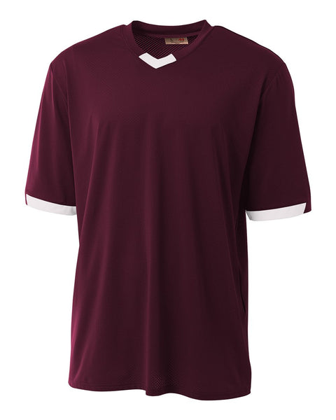 A4 N3011 The Stretch Pro - Mesh Baseball Jersey - Maroon White
