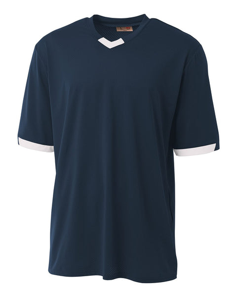 A4 N3011 The Stretch Pro - Mesh Baseball Jersey - Navy White