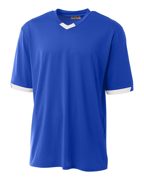 A4 N3011 The Stretch Pro - Mesh Baseball Jersey - Royal White