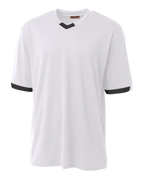 A4 N3011 The Stretch Pro - Mesh Baseball Jersey - White Black