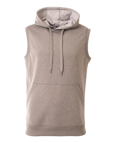A4 N4002 Agility Sleeveless Hoodie - Heather