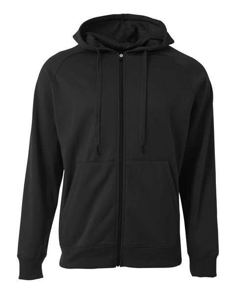 A4 N4001 Agility Tech Fleece Hoodie - Black