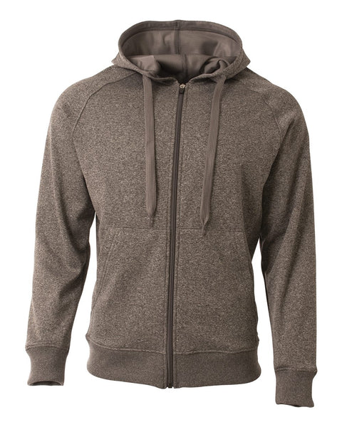 A4 N4001 Agility Tech Fleece Hoodie - Charcoal