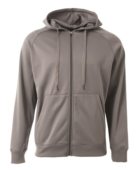 A4 N4001 Agility Tech Fleece Hoodie - Graphite