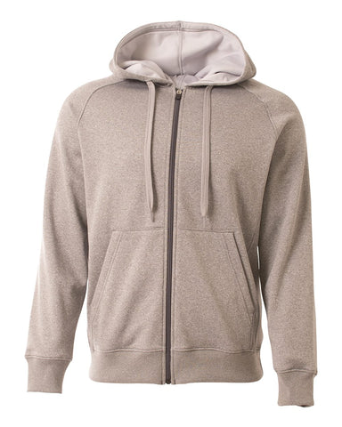 A4 N4001 Agility Tech Fleece Hoodie - Heather