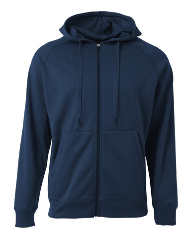 A4 N4001 Agility Tech Fleece Hoodie - Navy
