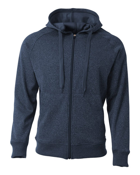 A4 N4001 Agility Tech Fleece Hoodie - Navy Heather