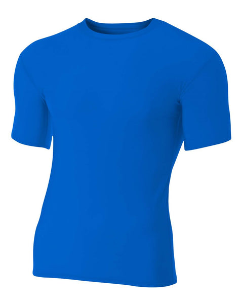 A4 NB3130 Youth Short Sleeve Compression Crew - Royal - HIT A Double