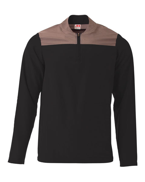 A4 N4014 The Element Quarter Zip - Black Graphite