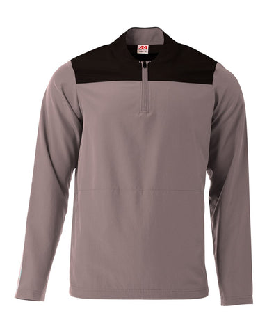 A4 N4014 The Element Quarter Zip - Graphite Black