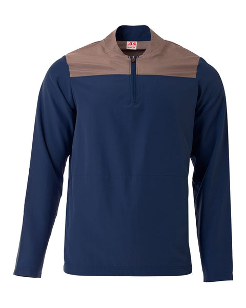 A4 N4014 The Element Quarter Zip - Navy Graphite