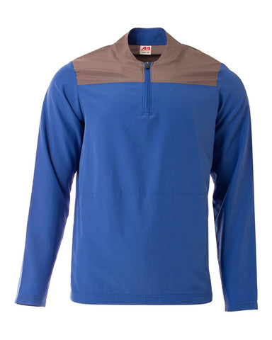 A4 N4014 The Element Quarter Zip - Royal Graphite