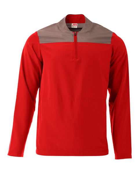 A4 N4014 The Element Quarter Zip - Scarlet Graphite