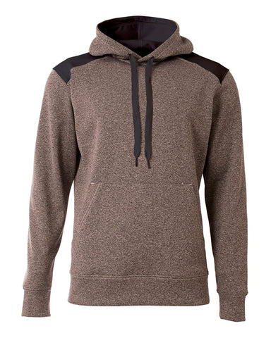 A4 N4093 Tourney Fleece Hoodie - Heather Black