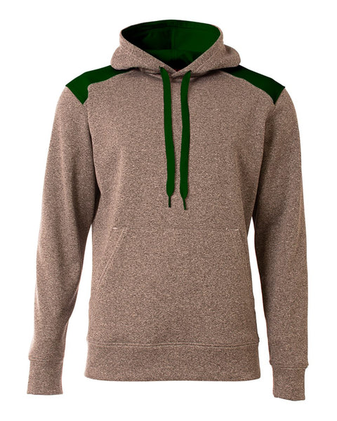 A4 N4093 Tourney Fleece Hoodie - Heather Forest