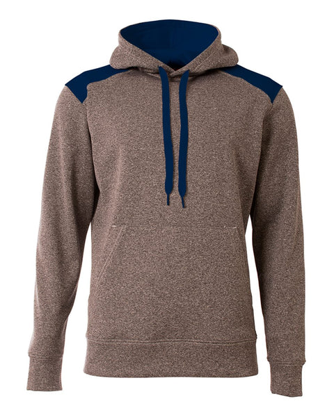 A4 N4093 Tourney Fleece Hoodie - Heather Navy