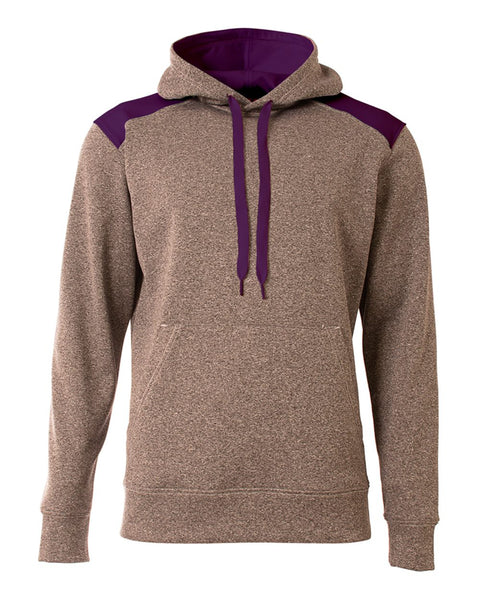 A4 N4093 Tourney Fleece Hoodie - Heather Purple