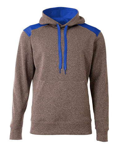 A4 N4093 Tourney Fleece Hoodie - Heather Royal