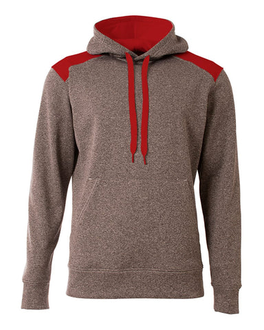 A4 N4093 Tourney Fleece Hoodie - Heather Scarlet