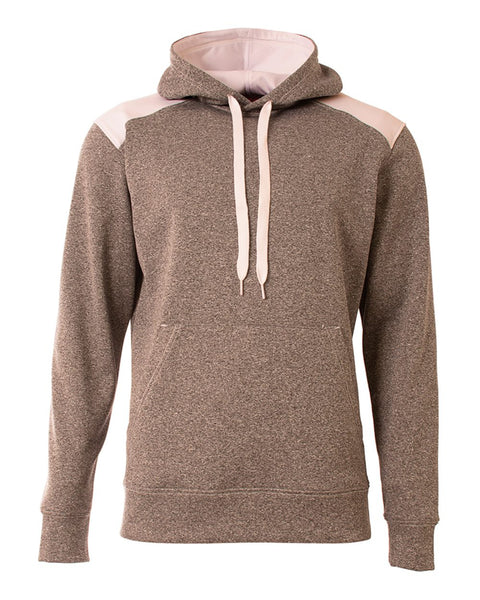A4 N4093 Tourney Fleece Hoodie - Heather White