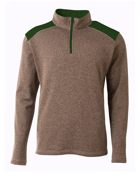 A4 N4094 Tourney Quarter Zip - Heather Forest - HIT A Double