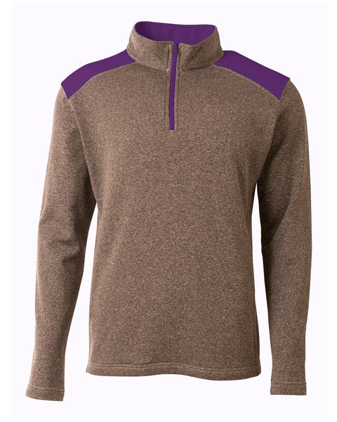 A4 N4094 Tourney Quarter Zip - Heather Purple