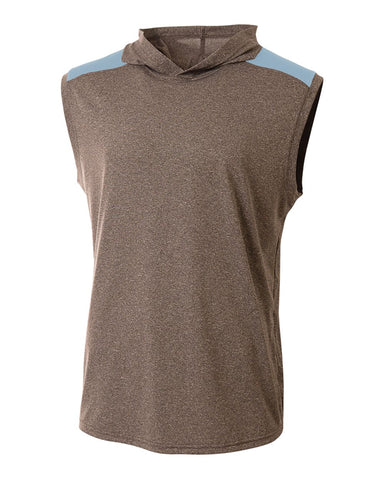 A4 N3031 Tourney Hooded Tee - Heather Light Blue