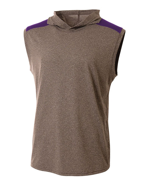 A4 N3031 Tourney Hooded Tee - Heather Purple