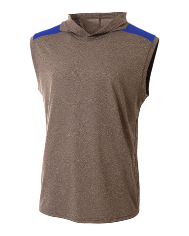 A4 N3031 Tourney Hooded Tee - Heather Royal