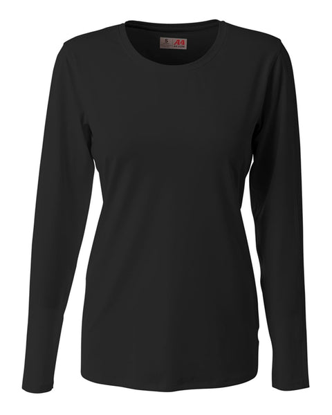 A4 NG3015 The Spike - Long Sleeve Volleyball Jersey - Black