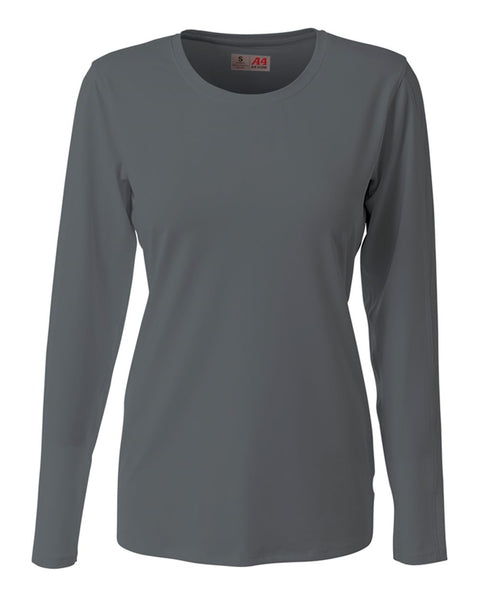 A4 NG3015 The Spike - Long Sleeve Volleyball Jersey - Graphite - HIT A Double