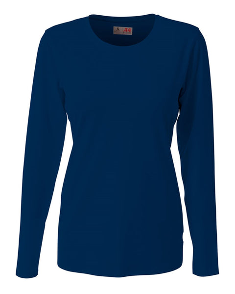 A4 NG3015 The Spike - Long Sleeve Volleyball Jersey - Navy - HIT A Double