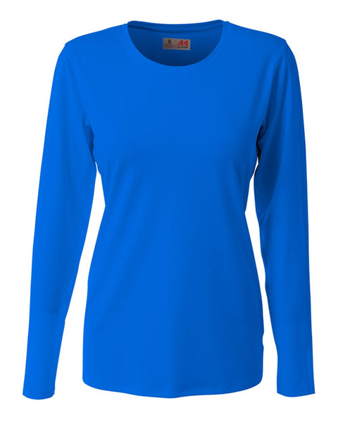 A4 NG3015 The Spike - Long Sleeve Volleyball Jersey - Royal - HIT A Double
