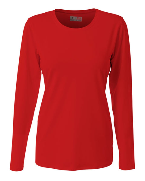 A4 NG3015 The Spike - Long Sleeve Volleyball Jersey - Scarlet