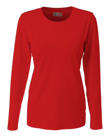 A4 NG3015 The Spike - Long Sleeve Volleyball Jersey - Scarlet - HIT A Double